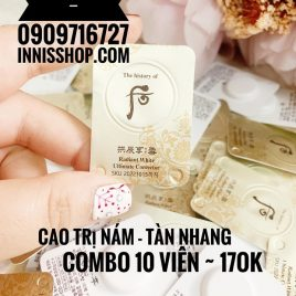 Combo 10  Cao Dưỡng Trị nám Da Whoo Radiant White Intensive Spot Corrector